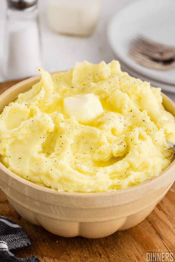 mashed potatoes with butter on top