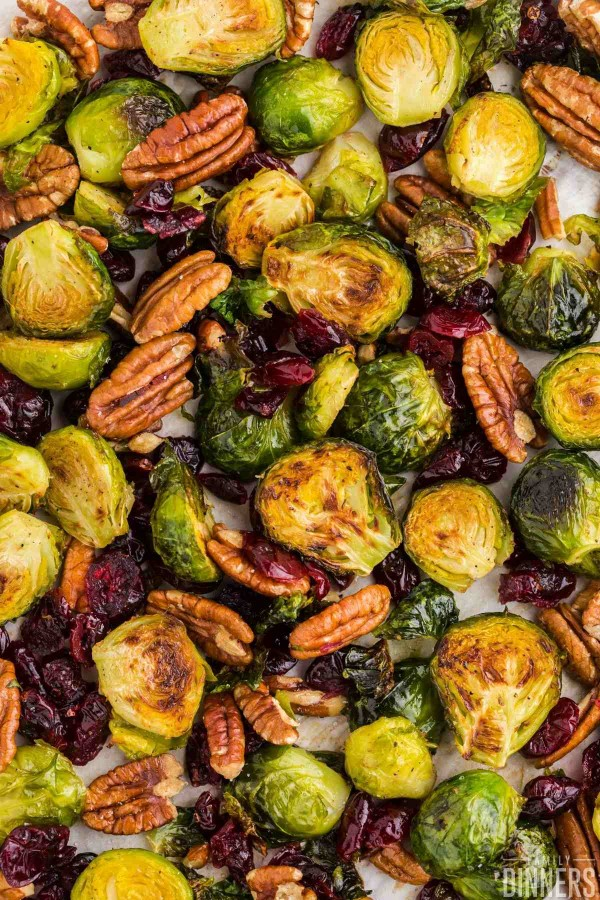 golden brown brussels sprouts