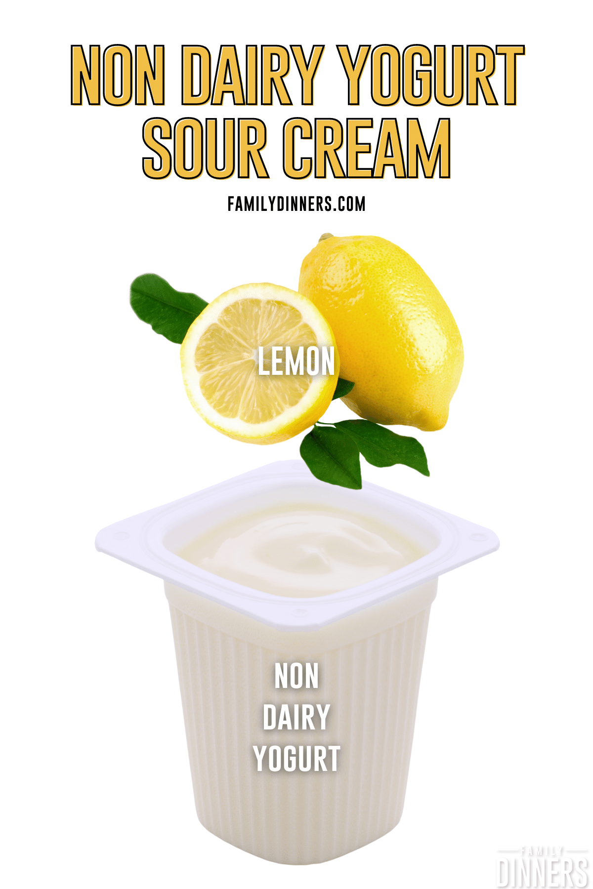 non dairy yogurt sour cream ingredients - lemon and non dairy yogurt